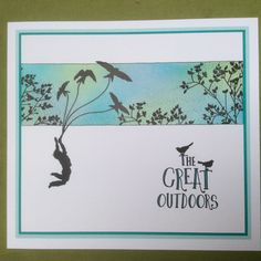 Gorgeous card! Love the shading and images! Barbara Gray's Blog. One Day at a Time.: The Great Outdoors! Let's go!!! http://barbaragrayblog.blogspot.com.au/2014/09/the-great-outdoors-lets-go.html
