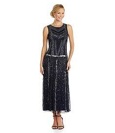 Pisarro Nights Beaded Dress #Dillards