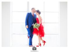 b5be9c96e7c2b2 bruidspaar in verlaten suikerfabriek zevenbergen photoshoot trouwfoto rode  jurk blauw pak bruid bruidegom