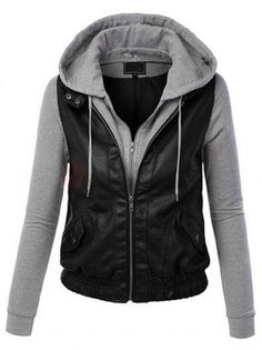 Leisure Hooded Patchwork Long Sleeve Takedown Headwear Zipper Women's Hoodie on buytrends.com