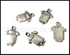 Breloque bébé - UNE HISTOIRE DE MODE Cufflinks, Accessories, Diy, Fashion, Rhinestones, Pendant, Handkerchief Dress, Pearl, Creative Crafts