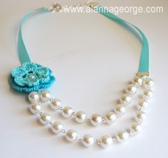 How To   Pearl Ribbon Necklace   Alanna George   The Craft Nest