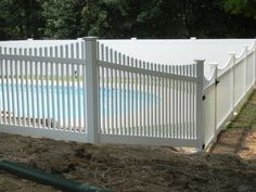 PVC Picket Pool Fence