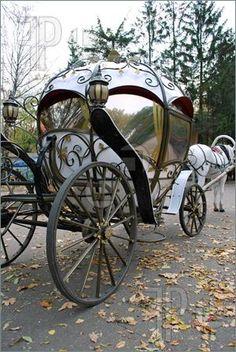 Fairytale Wedding Car ♥ Dream Wedding Ideas - Weddbook on We Heart It… Cinderella Carriage, Princess Carriage, Real Cinderella, Cinderella Coach, Cinderella Wedding, Horse Drawn, Fantasy World, Betty Boop, Faeries
