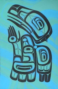 Into the Light.  ~  Paint | Tsimshian Artist David Robert Boxley from Metlakatla, Alaska