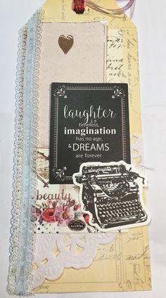 Vintage Dreams Handmade Layered Tag by SaharaLush on Etsy