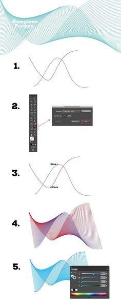 How to draw ... in adobe Illustrator #Hair #Design #Tutorial #Zeichnen #AdobeIllustrator #Typografie www.rauschsinnig.de