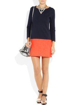 J.Crew|Maritime color-block cotton dress|NET-A-PORTER.COM