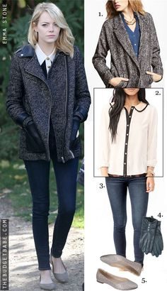 Good god, that jacket. Leather pockets! The budget version is meh.    Outfit Ideas - The Budget Babe