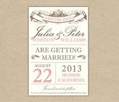 French Vintage Save the Date Cards by annie clark at minted.com ...