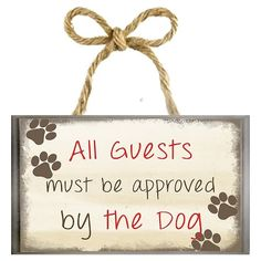 Wall sayings and designs are trendy home decor. This is an easy and creative way to display your love of dogs to any room. The combination of images and words adds a touch of whimsy. Approved By The Dog Wall Art Black Diy Wood Signs, Pallet Signs, Trendy Home Decor, Dog Crafts, Vinyl Crafts, Porch Signs, Sign Quotes, Wood Art, Metal Art