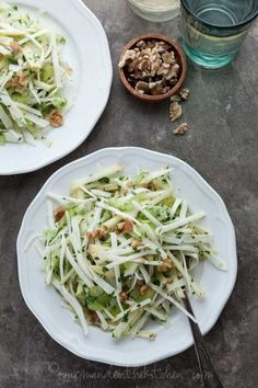 Celery Root and Apple Salad on gourmandeinthekitchen.com #paleo #vegan