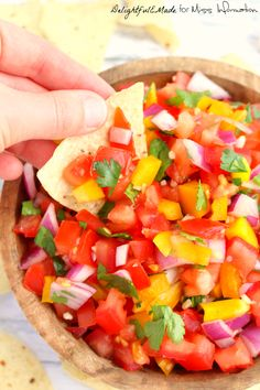 Salsa doesn't get much better than this!  Use it to top your favorite Mexican food, or eat it with chips, this salsa is fresh, easy and completely delicious!