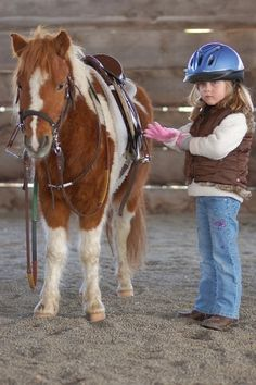 little girl with cute pony