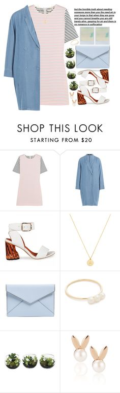 """featuring a denim coat 📍"" by courageousmind ❤ liked on Polyvore featuring Chinti and Parker, Steffen Schraut, BaubleBar, Rebecca Minkoff, EF Collection and Aamaya by Priyanka"