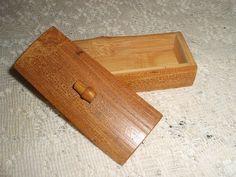 Bamboo Box, Small carved bamboo wood box with lid, trinket box, keepsake box, stash box, jewelry box, ring box, gift box, 4 in wood box by SocialmarysTreasures on Etsy