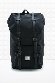 Herschel Supply co. Rubber Strap Little America Backpack in Black - Urban Outfitters