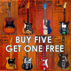 Buy any 5 11x17 Guitar Art prints and get one free. Special order. Guitar Art. Music Art. by KarlHaglundArt on Etsy https://www.etsy.com/listing/108746446/buy-any-5-11x17-guitar-art-prints-and