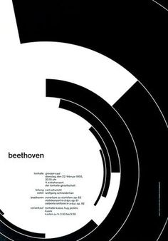 Josef Müller-Brockmann poster for a Beethoven concert in Zürich. circle graphic…