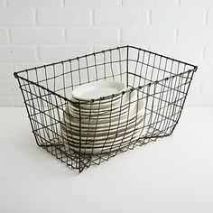 Vintage Industrial Wire Basket - Large $40.00