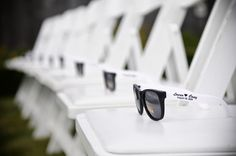 how cute for an outdoor wedding! Wedding sunglasses