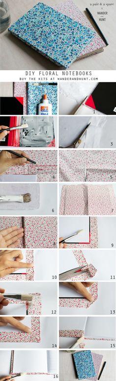 DIY Floral Notebooks   Wander & Hunt