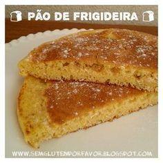 Sem glúten, por favor!: Receita de hoje: pão salgado de frigideira + pão doce de frigideira + mini pizza