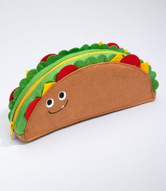 You can never have too many zippered pouches, especially ones that look like tacos. It sort of looks like a Mexican Meatwad.