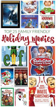 Best Holiday Movies for Families! Must Watch films for Kids and Holiday Fun!