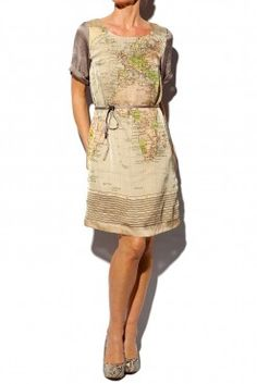 World map skirt in cotton blue world map fabric atlas skirt map dress how cool is this gumiabroncs Choice Image