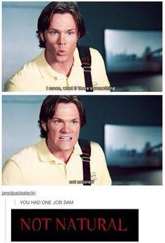 You had one job, Sam...I laughed so hard at this part