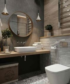 If you want to have an industrial bathroom the key factor is to take the edge of the harsh industrial look. Bathroom design Creating A Convenient Industrial Bathroom - House Topics Best Bathroom Designs, Bathroom Interior Design, Interior Decorating, Industrial Bathroom Design, Decorating Ideas, Interior Modern, Rustic Industrial Bedroom, Loft Industrial, Rustic Bathroom Designs