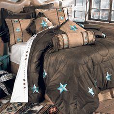 Turquoise Laredo Bed Set - Queen Lone Start Western Decor . com $330.