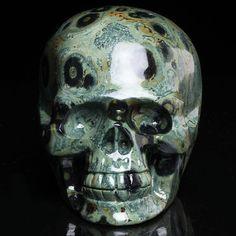 2.79LB Natural Kabbah Jasper skull carving, Crystal Skull,Crystal Healing