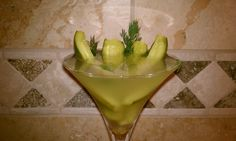 Dill Pickle Martini with homemade pickles.  Yes I did that. You're welcome.