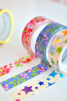 Love these pretty Washi tapes (for crafts)