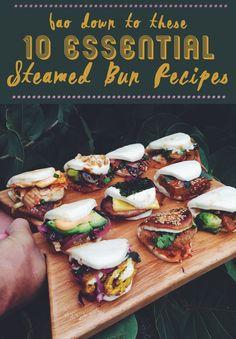 Bao, aka Steamed Buns - 4 vegetarian and 6 carnivorous recipe ideas!