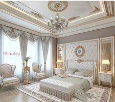 Dream Master Bedroom, Master Bedroom Interior, Home Bedroom, Bedroom Ideas, Bedroom Designs, Kids Bedroom, Royal Bedroom, Master Suite, Glam Bedroom