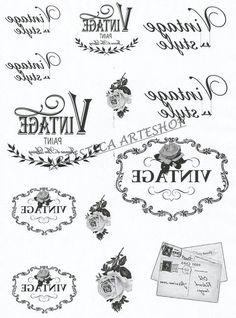 Billedresultat for imagen transfer vintage Printable Labels, Printable Art, Foto Transfer Potch, Transférer Des Photos, French Typography, Images Vintage, Photo Transfer, Decoupage Vintage, Graphics Fairy