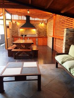 Quinchos :: GPA Construcciones Outdoor Barbeque, Dirty Kitchen, Patio Kitchen, Starter Home, Modern Backyard, Bars For Home, Outdoor Living, House Design, Interior