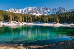 Discover Carezza Rainbow Lake in Italy: According to the local folklore, the myriad colors of this lake are the result of a a lovelorn wizard's blunder. Italy Location, Photo Location, Places In Italy, Places To See, Earth Photos, E Sport, Clear Lake, South Tyrol, Summer Travel