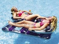 Love this Purple Face-to-Face Double Lounger Float by Swimline We NEED this for the pool this summer! We'll just let the kids fend for themselves! Pool Lounge Chairs, Pool Rafts, Pool Accessories, Pool Floats, Pool Toys, Tonne, Cool Pools, Outdoor Fun, Outdoor Stuff