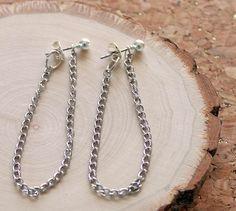 Gina Michele: DIY Knockoff Anthropologie Chained Hoop Earrings. 5 minute DIY