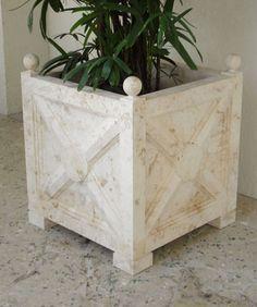 limestone planter