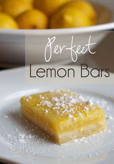 Perfect Lemon Bars on MyRecipeMagic.com