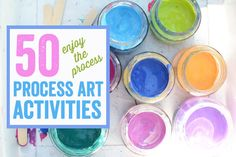 50 Process Art Activities for Kids - Meri Cherry #ProcessArt