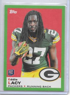 2013 Topps 1969 Green #13 Eddie Lacy Packers RC #Topps