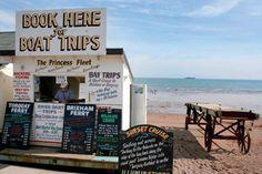 Book Your Boat Trip Here... Paignton Beach, South Devon, England.ilovesouthdevon.com #devon