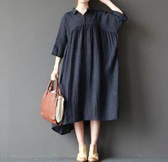 Women loose fitting long dress large size maxi dress by MaLieb