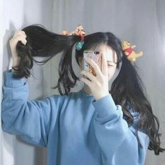 Find images and videos about girl, beautiful and aesthetic on We Heart It - the app to get lost in what you love. Korean Girl Photo, Korean Girl Fashion, Cute Korean Girl, Asian Girl, Pelo Ulzzang, Ulzzang Korean Girl, Style Kawaii, Kawaii Girl, Kawaii Hairstyles